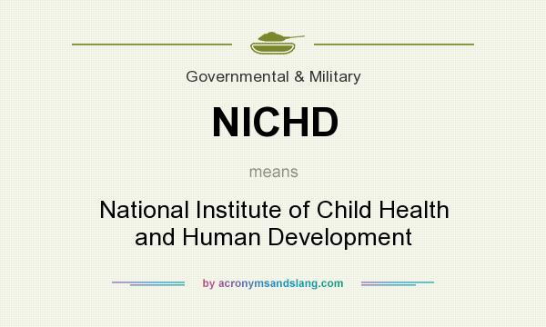 What does NICHD mean? It stands for National Institute of Child Health and Human Development