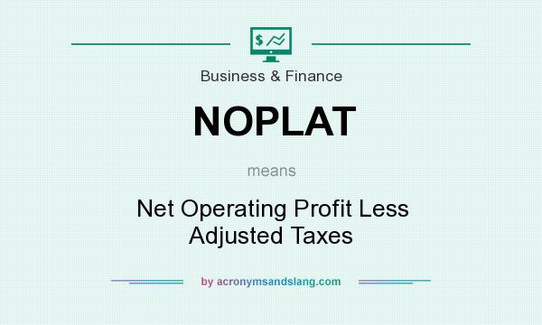 What does NOPLAT mean? It stands for Net Operating Profit Less Adjusted Taxes