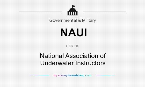 What does NAUI mean? It stands for National Association of Underwater Instructors