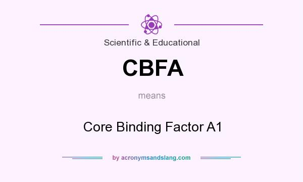 What does CBFA mean? It stands for Core Binding Factor A1