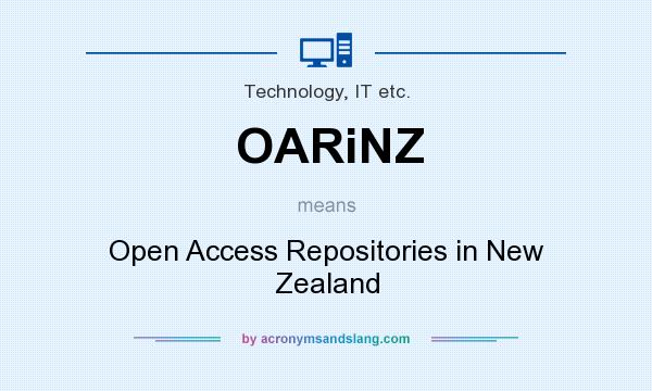 What does OARiNZ mean? It stands for Open Access Repositories in New Zealand