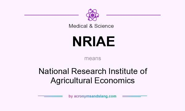 What does NRIAE mean? It stands for National Research Institute of Agricultural Economics