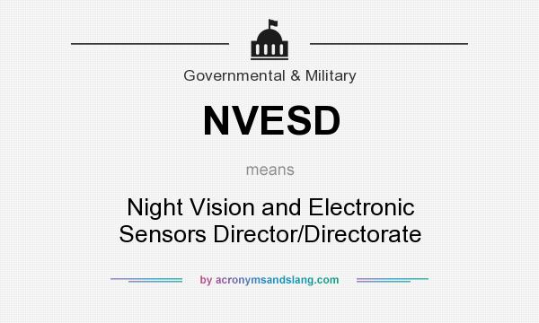 What does NVESD mean? It stands for Night Vision and Electronic Sensors Director/Directorate