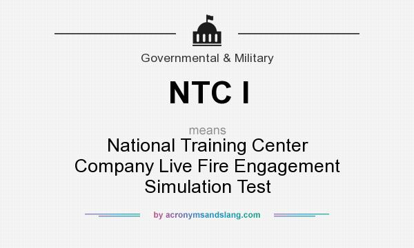 What does NTC I mean? - Definition of NTC I - NTC I stands