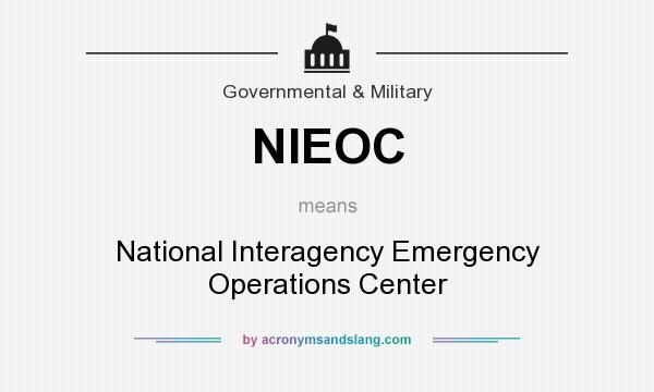 what does nieoc mean definition of nieoc nieoc stands for national interagency emergency. Black Bedroom Furniture Sets. Home Design Ideas