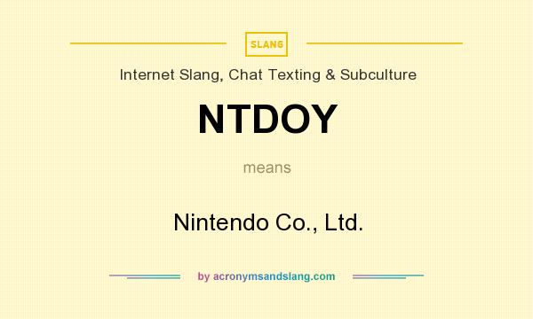 What does NTDOY mean? It stands for Nintendo Co., Ltd.