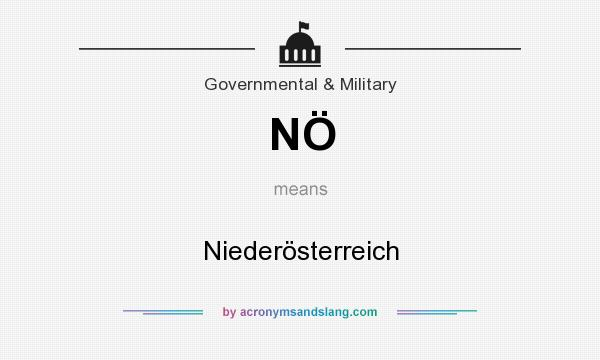 What does NÖ mean? It stands for Niederösterreich