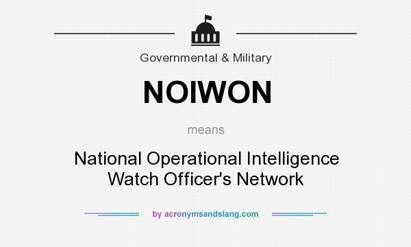 NOIWON - National Operational Intelligence Watch Officer`s Network ...