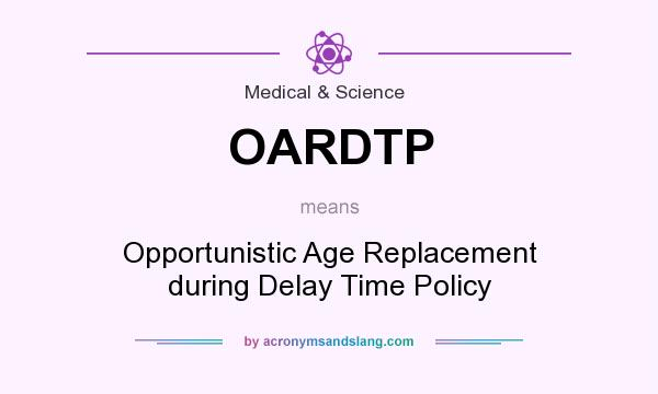 What does OARDTP mean? It stands for Opportunistic Age Replacement during Delay Time Policy