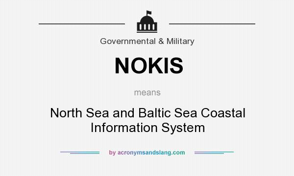 What does NOKIS mean? It stands for North Sea and Baltic Sea Coastal Information System