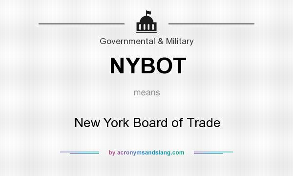 What does NYBOT mean? It stands for New York Board of Trade