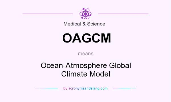 What does OAGCM mean? It stands for Ocean-Atmosphere Global Climate Model