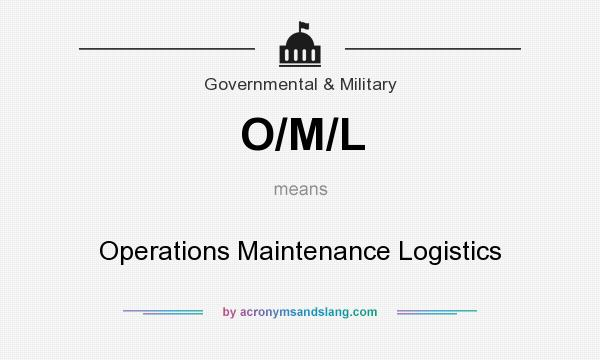 What does O/M/L mean? It stands for Operations Maintenance Logistics