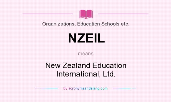 What does NZEIL mean? It stands for New Zealand Education International, Ltd.