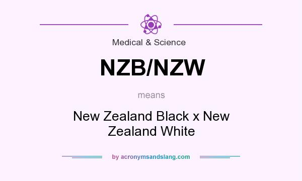 What does NZB/NZW mean? It stands for New Zealand Black x New Zealand White