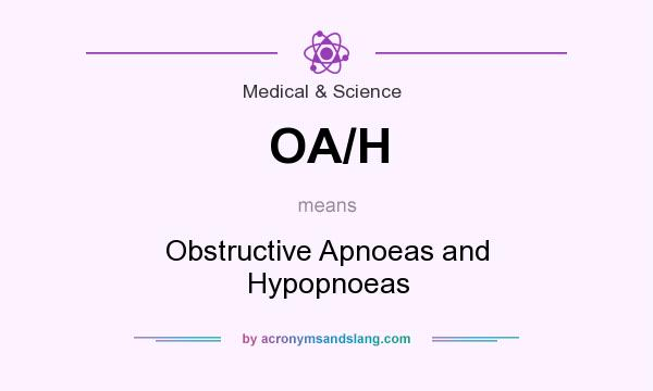 What does OA/H mean? It stands for Obstructive Apnoeas and Hypopnoeas
