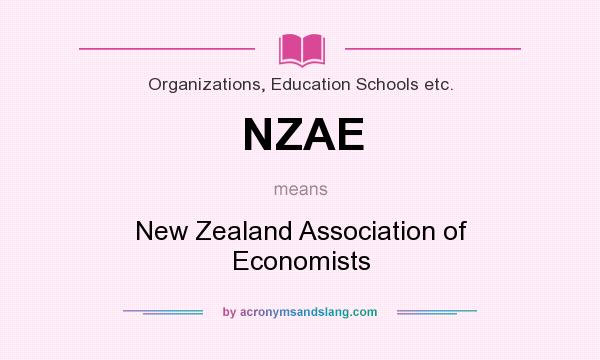 What does NZAE mean? It stands for New Zealand Association of Economists