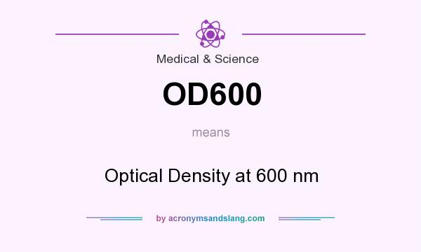 What does OD600 mean? It stands for Optical Density at 600 nm