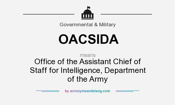 What does OACSIDA mean? It stands for Office of the Assistant Chief of Staff for Intelligence, Department of the Army