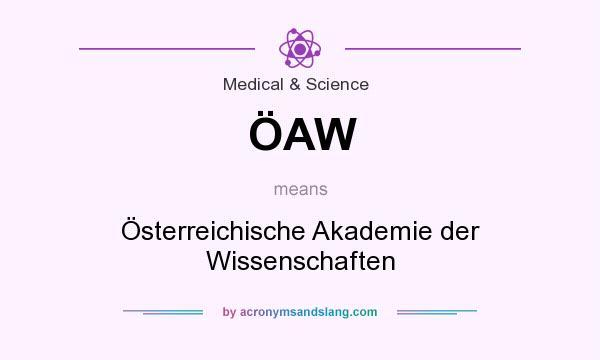 What does ÖAW mean? It stands for Österreichische Akademie der Wissenschaften