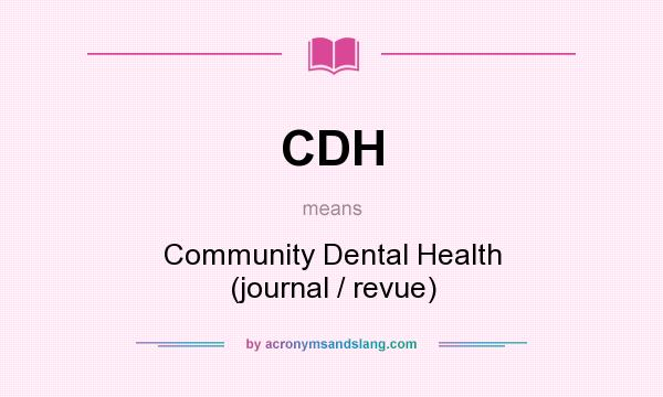 CDH - Community Dental Health (journal / revue) in Undefined