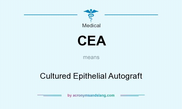 What does CEA mean? It stands for Cultured Epithelial Autograft