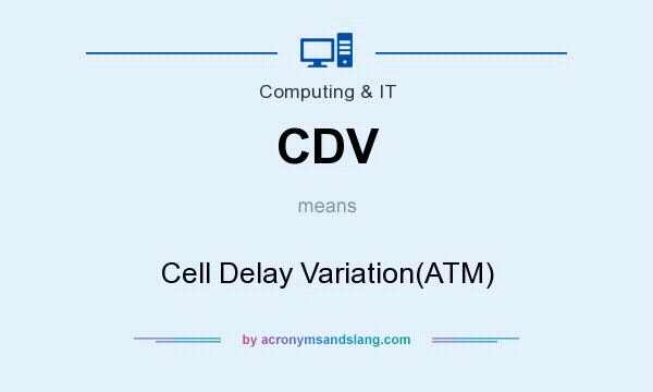 What does CDV mean? It stands for Cell Delay Variation(ATM)