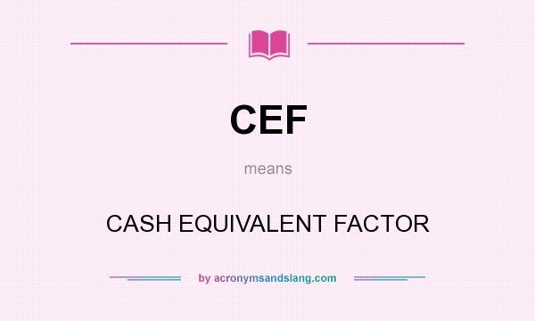 Cash Equivalents Question?