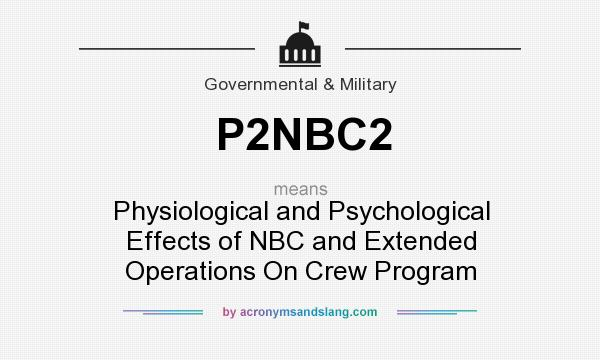 What does P2NBC2 mean? It stands for Physiological and Psychological Effects of NBC and Extended Operations On Crew Program