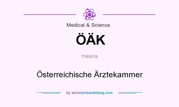 What does ÖÄK mean? It stands for Österreichische Ärztekammer