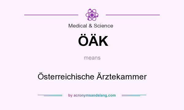 What does ÖÄK mean? It stands for Österreichische Ärztekammer
