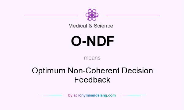 What does O-NDF mean? It stands for Optimum Non-Coherent Decision Feedback