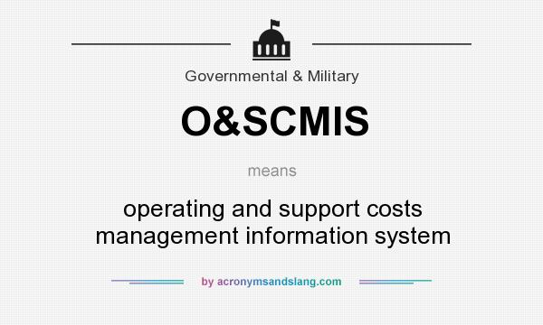 What does O&SCMIS mean? It stands for operating and support costs management information system