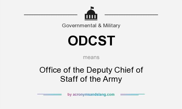 Odcst office of the deputy chief of staff of the army in - Office of the government chief information officer ...