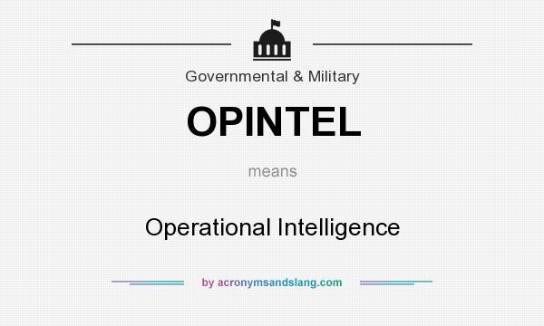 What does OPINTEL mean? - Definition of OPINTEL - OPINTEL stands ...