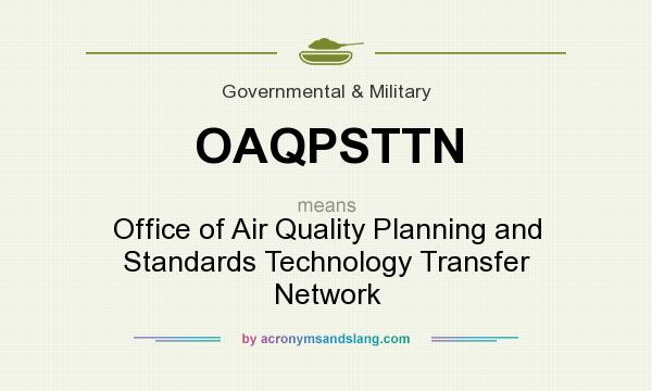 What does OAQPSTTN mean? It stands for Office of Air Quality Planning and Standards Technology Transfer Network