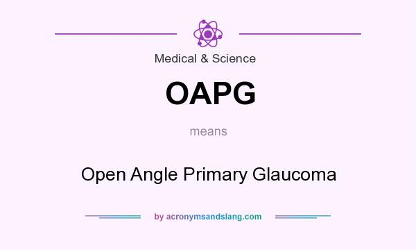 What does OAPG mean? It stands for Open Angle Primary Glaucoma