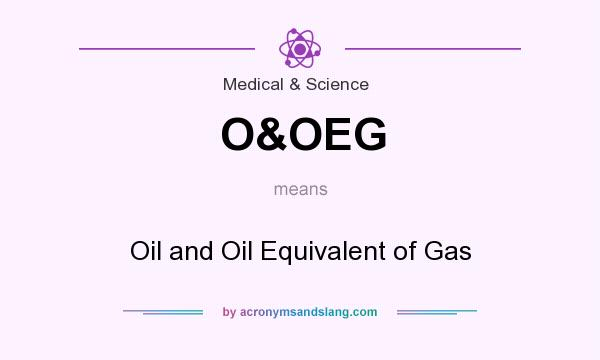 What does O&OEG mean? It stands for Oil and Oil Equivalent of Gas
