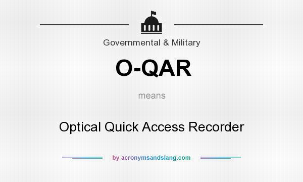 What does O-QAR mean? It stands for Optical Quick Access Recorder