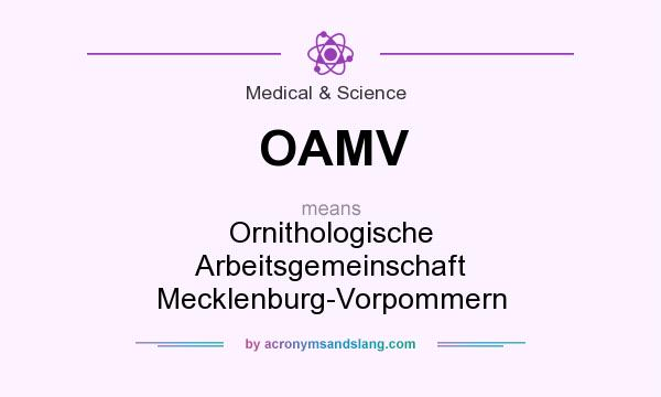 What does OAMV mean? It stands for Ornithologische Arbeitsgemeinschaft Mecklenburg-Vorpommern