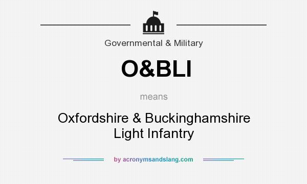 What does O&BLI mean? It stands for Oxfordshire & Buckinghamshire Light Infantry