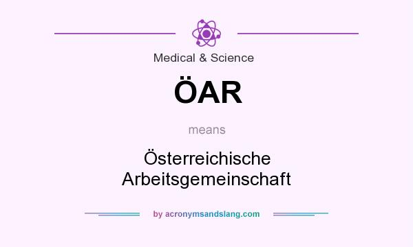 What does ÖAR mean? It stands for Österreichische Arbeitsgemeinschaft