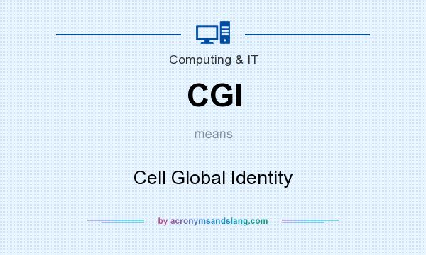 What does CGI mean? It stands for Cell Global Identity