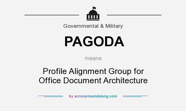 What does PAGODA mean? It stands for Profile Alignment Group for Office Document Architecture