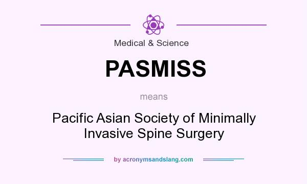 What does PASMISS mean? It stands for Pacific Asian Society of Minimally Invasive Spine Surgery