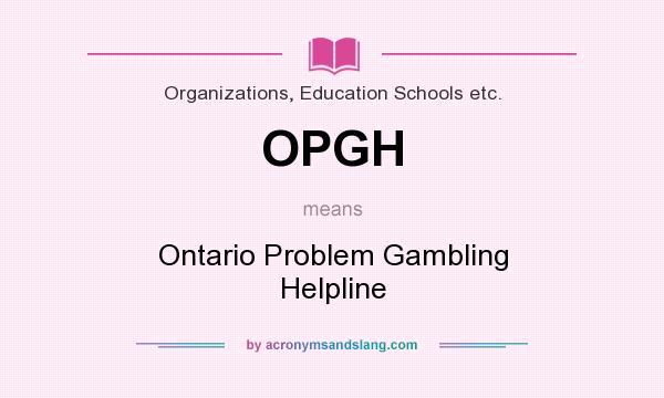 Problem gambling helpline ontario onlinepoker casino pokerpoker