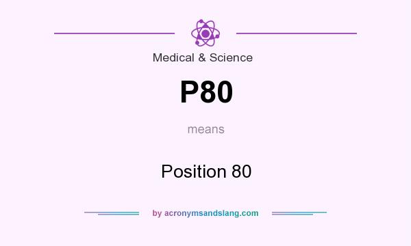 What does P80 mean? It stands for Position 80