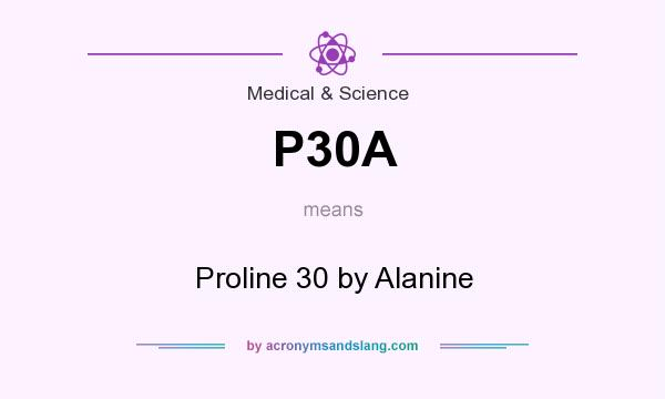 What does P30A mean? It stands for Proline 30 by Alanine