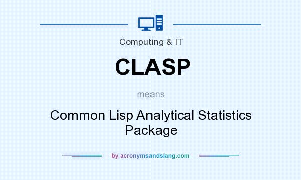 What does CLASP mean? It stands for Common Lisp Analytical Statistics Package