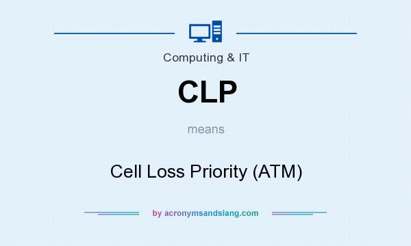 What does CLP mean? It stands for Cell Loss Priority (ATM)